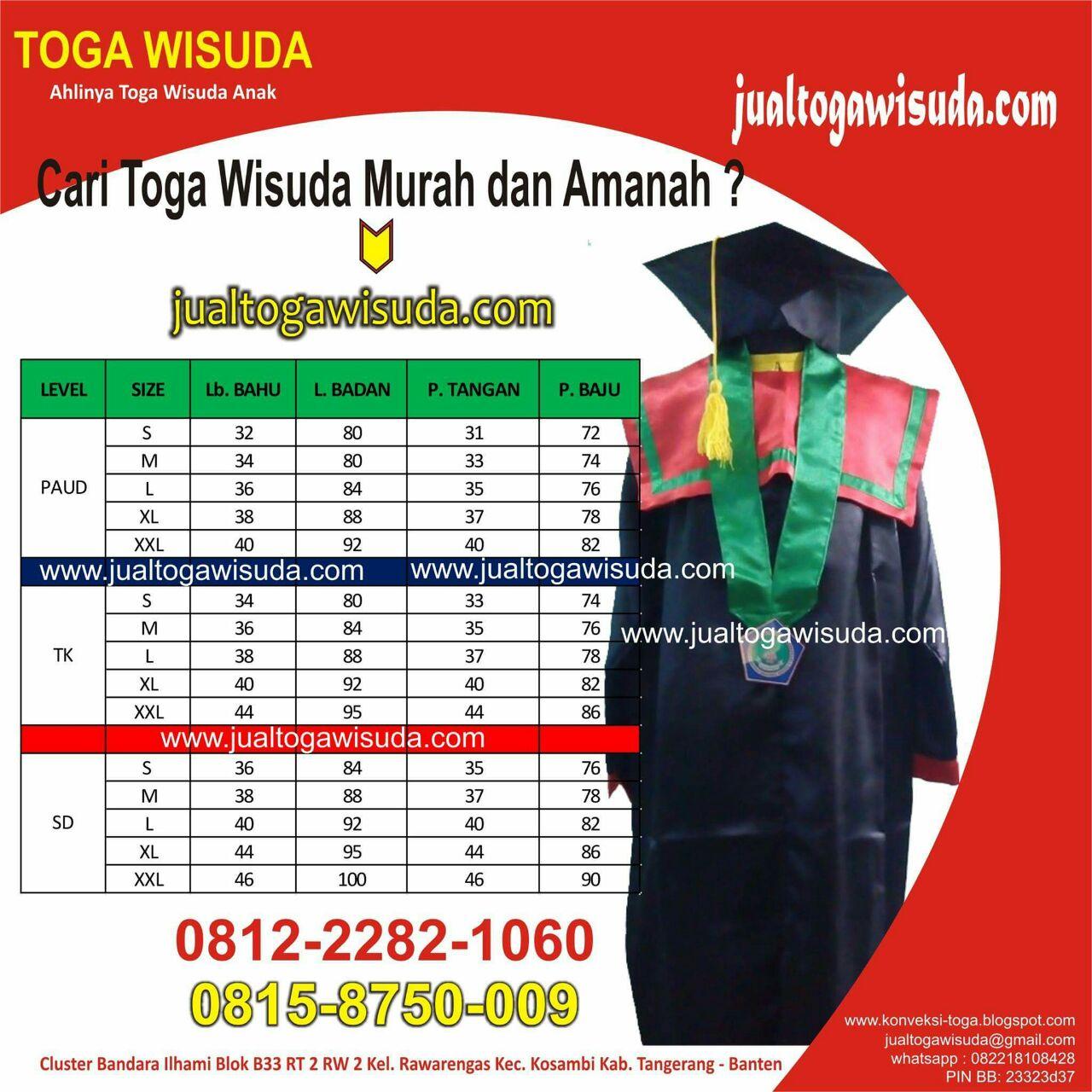 Ukuran Toga Wisuda Anak Lampung Utara