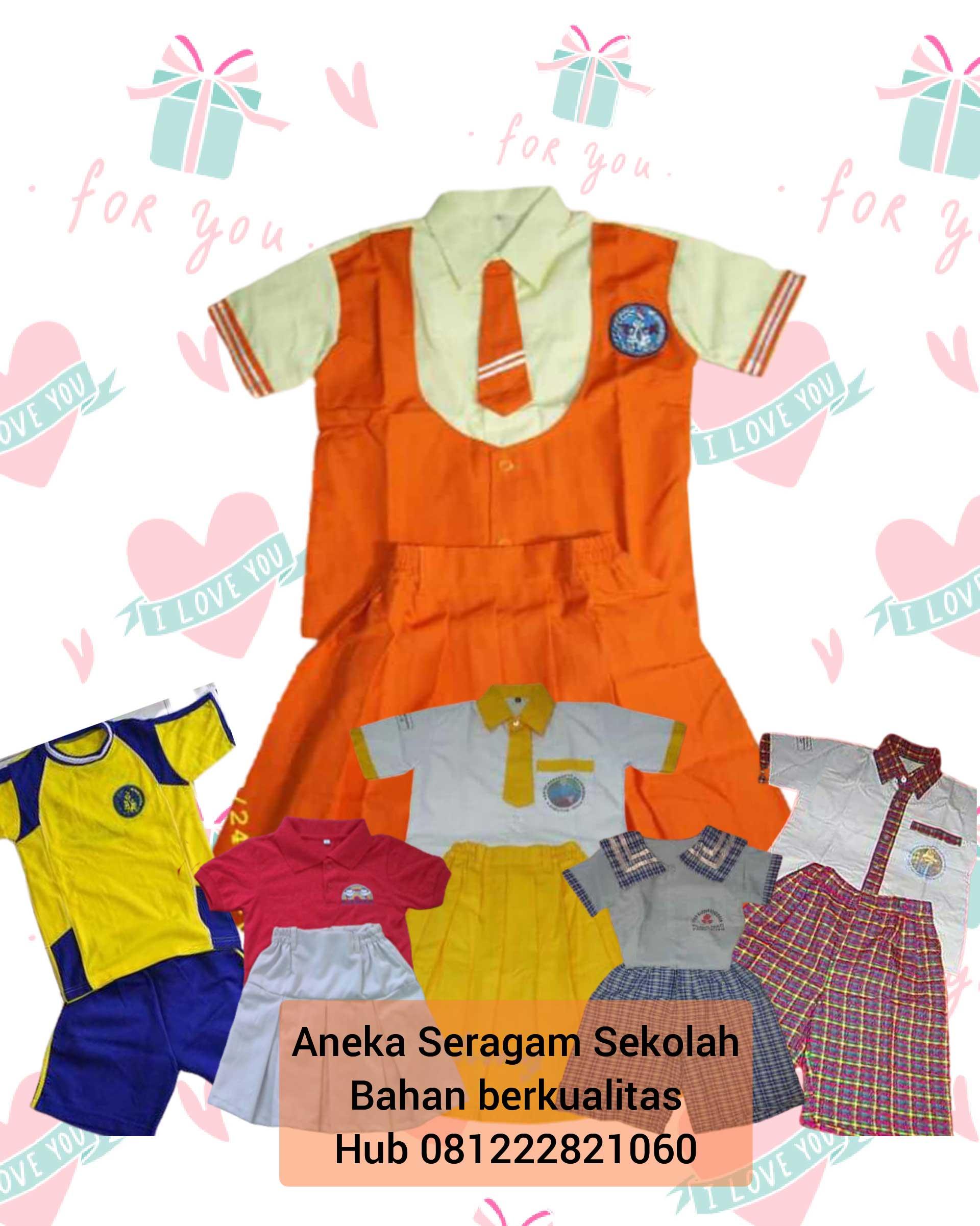 gambar baju seragam sekolah anak tk di Cisauk