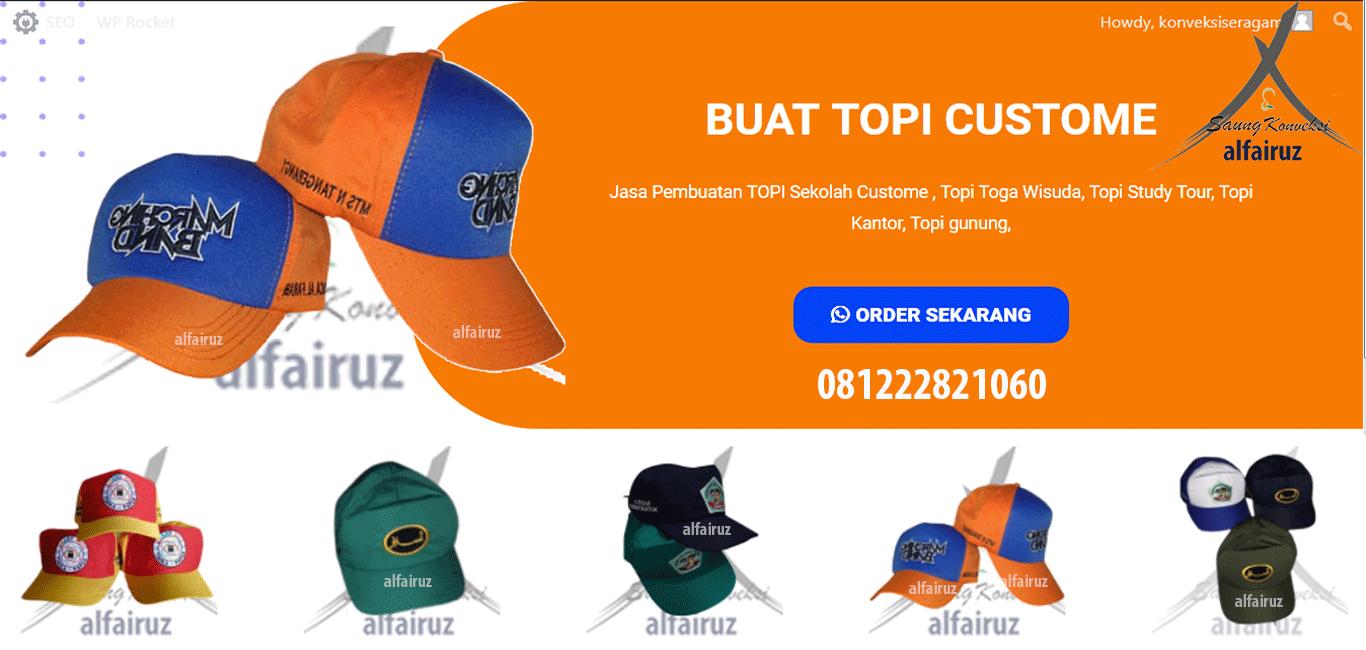 buat topi sekolah murah di Kabupaten Sarolangun