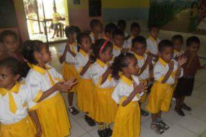 Bikin Seragam Sekolah TK Cova-Lima Timor Leste